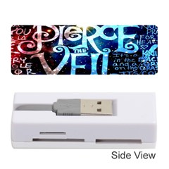 Pierce The Veil Quote Galaxy Nebula Memory Card Reader (stick)  by Onesevenart