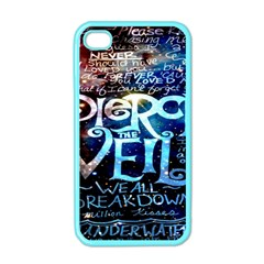 Pierce The Veil Quote Galaxy Nebula Apple Iphone 4 Case (color) by Onesevenart