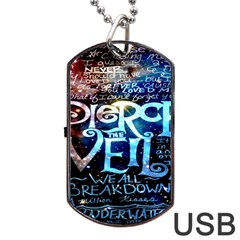 Pierce The Veil Quote Galaxy Nebula Dog Tag Usb Flash (one Side) by Onesevenart