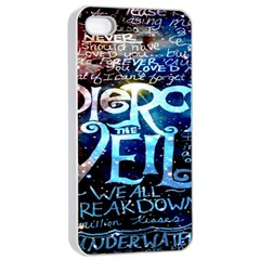 Pierce The Veil Quote Galaxy Nebula Apple Iphone 4/4s Seamless Case (white) by Onesevenart
