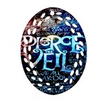 Pierce The Veil Quote Galaxy Nebula Oval Filigree Ornament (Two Sides)