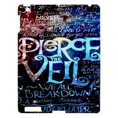 Pierce The Veil Quote Galaxy Nebula Apple Ipad 3/4 Hardshell Case by Onesevenart