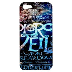Pierce The Veil Quote Galaxy Nebula Apple Iphone 5 Hardshell Case by Onesevenart