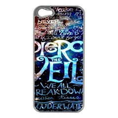 Pierce The Veil Quote Galaxy Nebula Apple Iphone 5 Case (silver) by Onesevenart