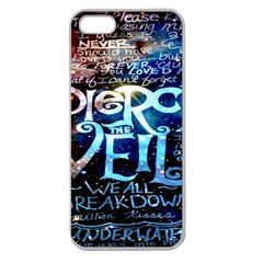 Pierce The Veil Quote Galaxy Nebula Apple Seamless Iphone 5 Case (clear) by Onesevenart