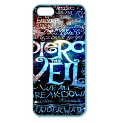 Pierce The Veil Quote Galaxy Nebula Apple Seamless Iphone 5 Case (color) by Onesevenart