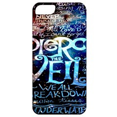 Pierce The Veil Quote Galaxy Nebula Apple Iphone 5 Classic Hardshell Case by Onesevenart