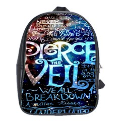 Pierce The Veil Quote Galaxy Nebula School Bags (xl)  by Onesevenart