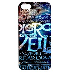Pierce The Veil Quote Galaxy Nebula Apple Iphone 5 Hardshell Case With Stand by Onesevenart