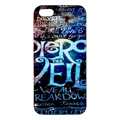 Pierce The Veil Quote Galaxy Nebula Apple Iphone 5 Premium Hardshell Case by Onesevenart