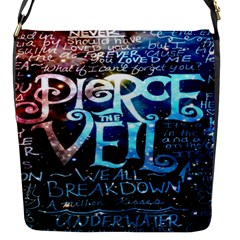 Pierce The Veil Quote Galaxy Nebula Flap Messenger Bag (s) by Onesevenart