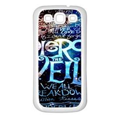 Pierce The Veil Quote Galaxy Nebula Samsung Galaxy S3 Back Case (white) by Onesevenart