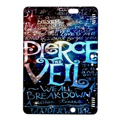 Pierce The Veil Quote Galaxy Nebula Kindle Fire HDX 8.9  Hardshell Case by Onesevenart