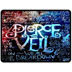 Pierce The Veil Quote Galaxy Nebula Double Sided Fleece Blanket (large)  by Onesevenart