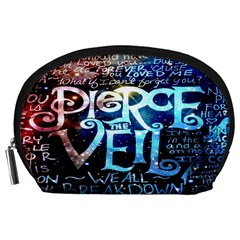 Pierce The Veil Quote Galaxy Nebula Accessory Pouches (large)  by Onesevenart