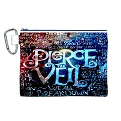 Pierce The Veil Quote Galaxy Nebula Canvas Cosmetic Bag (l) by Onesevenart