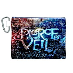 Pierce The Veil Quote Galaxy Nebula Canvas Cosmetic Bag (xl) by Onesevenart