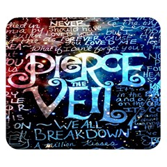 Pierce The Veil Quote Galaxy Nebula Double Sided Flano Blanket (small)  by Onesevenart