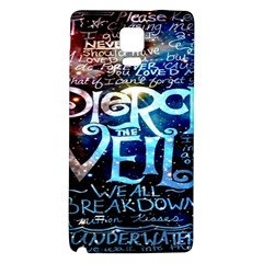 Pierce The Veil Quote Galaxy Nebula Galaxy Note 4 Back Case by Onesevenart