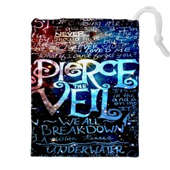Pierce The Veil Quote Galaxy Nebula Drawstring Pouches (xxl) by Onesevenart