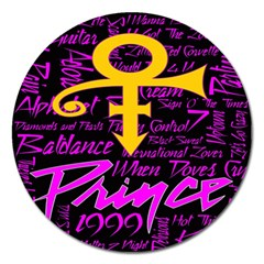 Prince Poster Magnet 5  (round) by Onesevenart