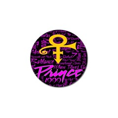 Prince Poster Golf Ball Marker (4 Pack) by Onesevenart
