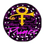Prince Poster Ornament (Round Filigree)