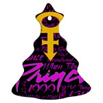 Prince Poster Christmas Tree Ornament (Two Sides)