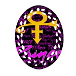 Prince Poster Oval Filigree Ornament (Two Sides)