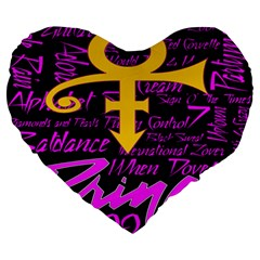 Prince Poster Large 19  Premium Heart Shape Cushions by Onesevenart