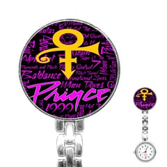Prince Poster Stainless Steel Nurses Watch by Onesevenart