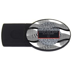Sometimes Quiet Is Violent Twenty One Pilots The Meaning Of Blurryface Album Usb Flash Drive Oval (2 Gb) by Onesevenart