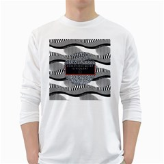 Sometimes Quiet Is Violent Twenty One Pilots The Meaning Of Blurryface Album White Long Sleeve T Shirts by Onesevenart