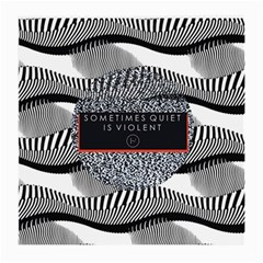 Sometimes Quiet Is Violent Twenty One Pilots The Meaning Of Blurryface Album Medium Glasses Cloth (2 Side) by Onesevenart