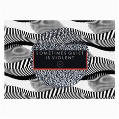 Sometimes Quiet Is Violent Twenty One Pilots The Meaning Of Blurryface Album Large Glasses Cloth (2 Side) by Onesevenart