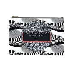 Sometimes Quiet Is Violent Twenty One Pilots The Meaning Of Blurryface Album Cosmetic Bag (large)  by Onesevenart