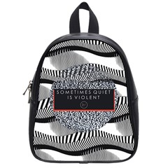 Sometimes Quiet Is Violent Twenty One Pilots The Meaning Of Blurryface Album School Bags (small)  by Onesevenart