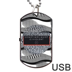 Sometimes Quiet Is Violent Twenty One Pilots The Meaning Of Blurryface Album Dog Tag Usb Flash (one Side) by Onesevenart