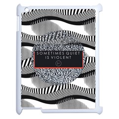 Sometimes Quiet Is Violent Twenty One Pilots The Meaning Of Blurryface Album Apple Ipad 2 Case (white) by Onesevenart
