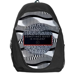 Sometimes Quiet Is Violent Twenty One Pilots The Meaning Of Blurryface Album Backpack Bag by Onesevenart