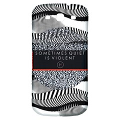 Sometimes Quiet Is Violent Twenty One Pilots The Meaning Of Blurryface Album Samsung Galaxy S3 S Iii Classic Hardshell Back Case by Onesevenart