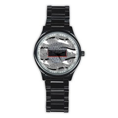 Sometimes Quiet Is Violent Twenty One Pilots The Meaning Of Blurryface Album Stainless Steel Round Watch by Onesevenart
