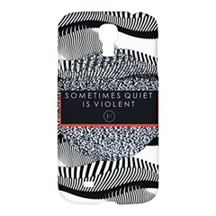 Sometimes Quiet Is Violent Twenty One Pilots The Meaning Of Blurryface Album Samsung Galaxy S4 I9500/i9505 Hardshell Case by Onesevenart