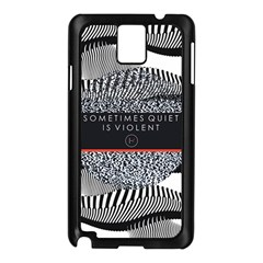 Sometimes Quiet Is Violent Twenty One Pilots The Meaning Of Blurryface Album Samsung Galaxy Note 3 N9005 Case (black) by Onesevenart
