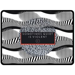 Sometimes Quiet Is Violent Twenty One Pilots The Meaning Of Blurryface Album Double Sided Fleece Blanket (large)  by Onesevenart