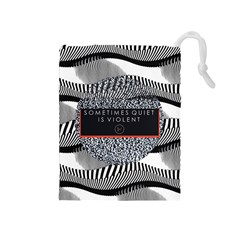 Sometimes Quiet Is Violent Twenty One Pilots The Meaning Of Blurryface Album Drawstring Pouches (medium)  by Onesevenart