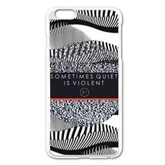 Sometimes Quiet Is Violent Twenty One Pilots The Meaning Of Blurryface Album Apple Iphone 6 Plus/6s Plus Enamel White Case by Onesevenart