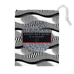 Sometimes Quiet Is Violent Twenty One Pilots The Meaning Of Blurryface Album Drawstring Pouches (extra Large) by Onesevenart