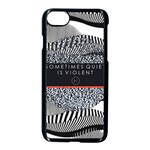 Sometimes Quiet Is Violent Twenty One Pilots The Meaning Of Blurryface Album Apple iPhone 7 Seamless Case (Black)
