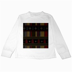 Tardis Doctor Who Ugly Holiday Kids Long Sleeve T Shirts by Onesevenart